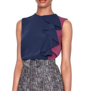 Sophie theAllet The Limited Color Block Ruffle